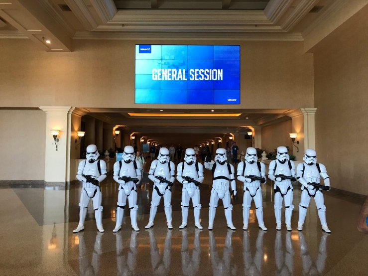 Storm Troopers before VMworld General Session.jpg